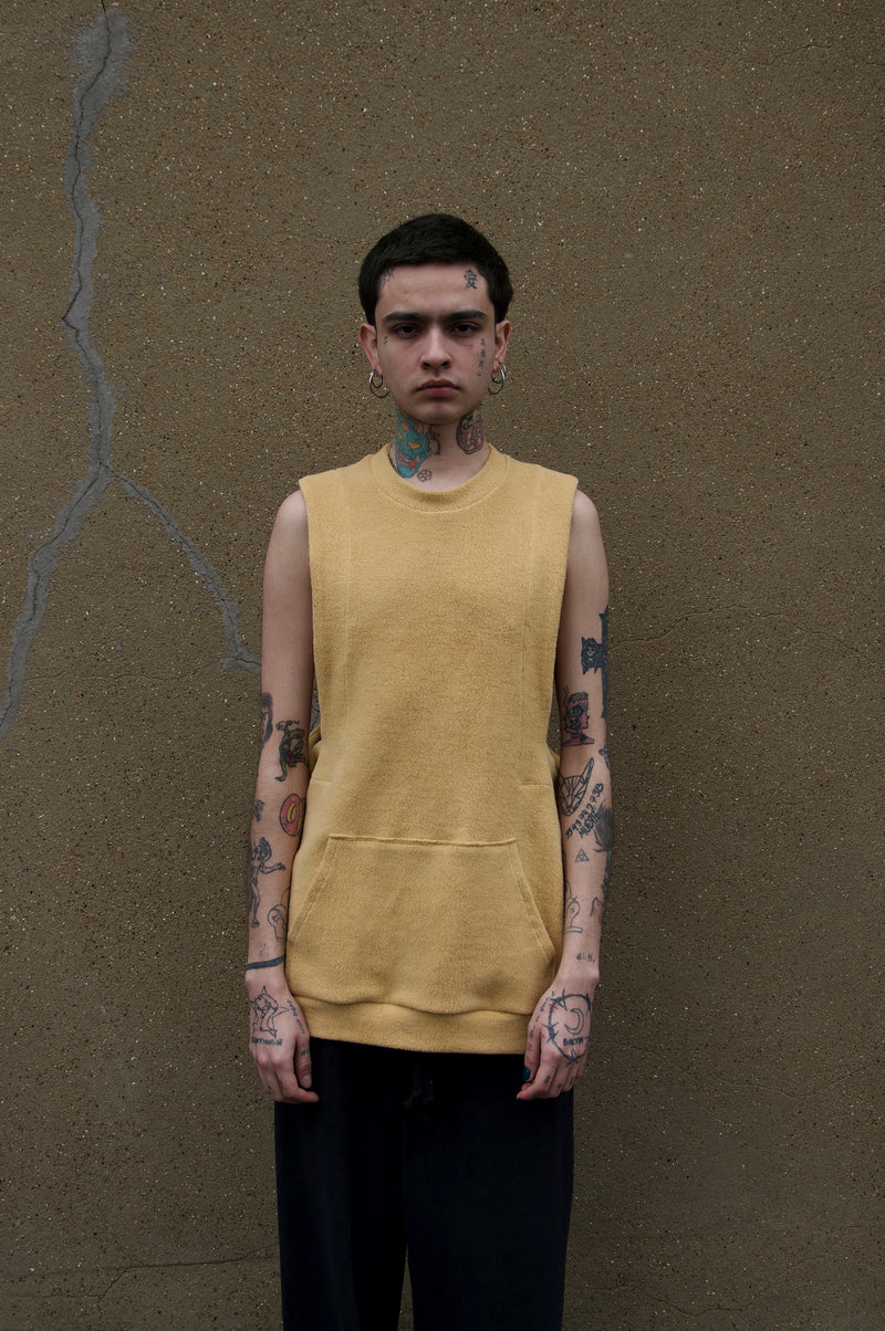 YELLOW CUT OUT HOODIE BASE