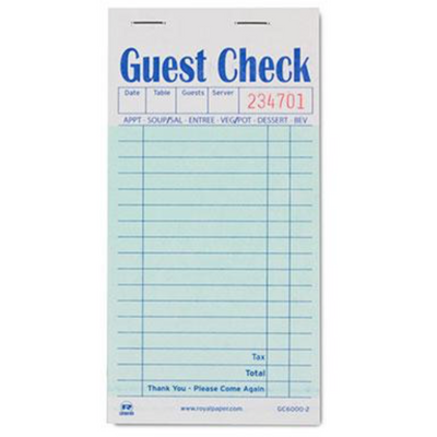 Green Guest Checkbook
