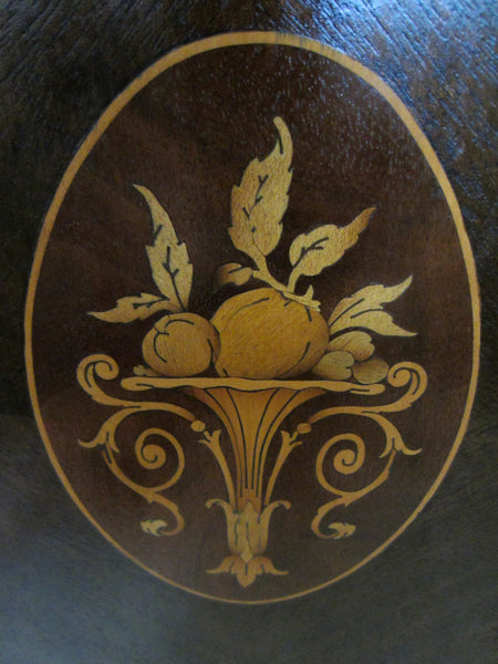 Federal Mahogany Sideboard Inlaid Ebonized Lines Fruit Marquetry - Designer Unique Finds   - 5