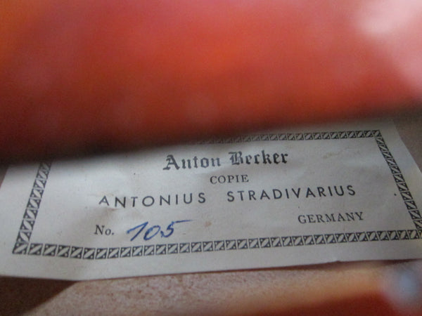 Violin Anton Becker Copie Antonius Stradivarius Germany - Designer Unique Finds   - 6