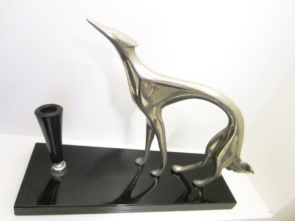 Hound Dog Italy Art Deco Pen Holder Black Stone Stand - Designer Unique Finds   - 1