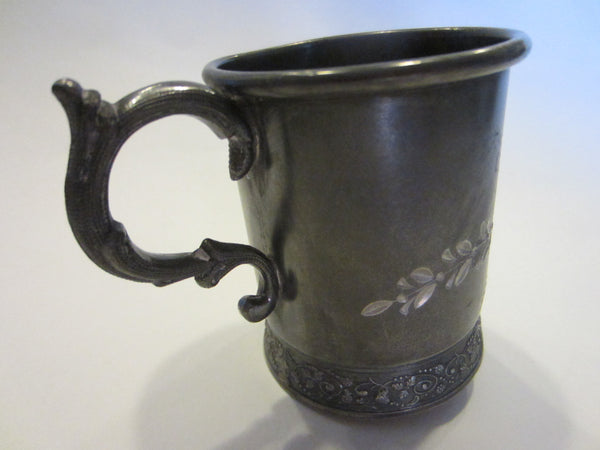 Albany Silver Triple Plate Cup Floral Engraving Marked Numbered - Designer Unique Finds   - 3