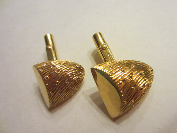 Christian Dior Golden Nuggets Mid Century Cuff Links Set