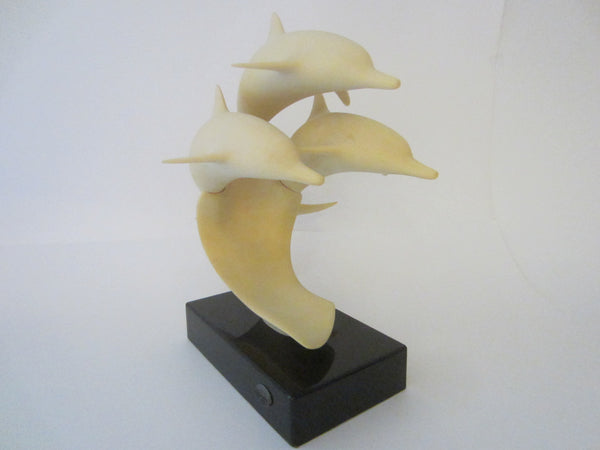 John Perry Three Dolphins Mid Century Modern Sculpture - Designer Unique Finds