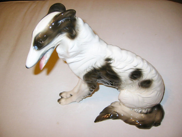 Cuernavaca Ceramic Seated Dog Hand Crafted Painted Signed By Artist - Designer Unique Finds   - 1