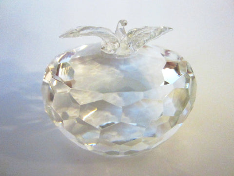Swarovski Crystal Apple Paperweight