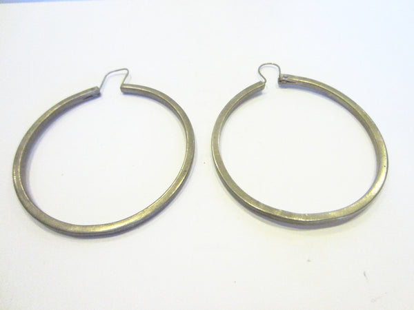 Sterling Silver Hoop Earrings Marked In Etch Mexico 925 - Designer Unique Finds