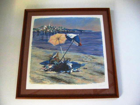 Aldo Luongo Blue Coast Signed Lithograph - Designer Unique Finds   - 2
