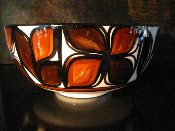 Hawaii Lei Ceramic Bowl Hand Crafted Signed Decorated Glazed - Designer Unique Finds   - 3
