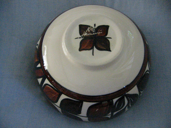 Hawaii Lei Ceramic Bowl Hand Crafted Signed Decorated Glazed - Designer Unique Finds   - 6
