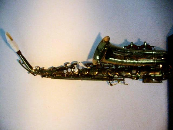 Buescher Aristocrat Elkhart Brass Saxophone Mother Of Pearl Bakelite - Designer Unique Finds   - 2