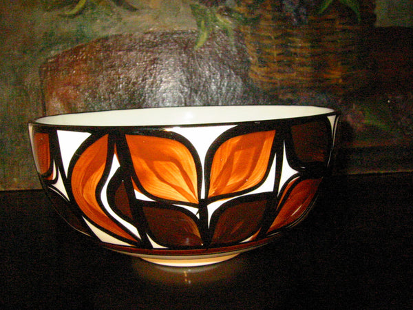 Hawaii Lei Ceramic Bowl Hand Crafted Signed Decorated Glazed - Designer Unique Finds   - 2