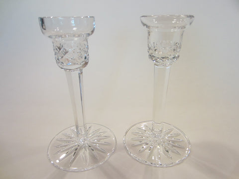 Waterford Crystal Signature Candle Holders In Pair With Signatures