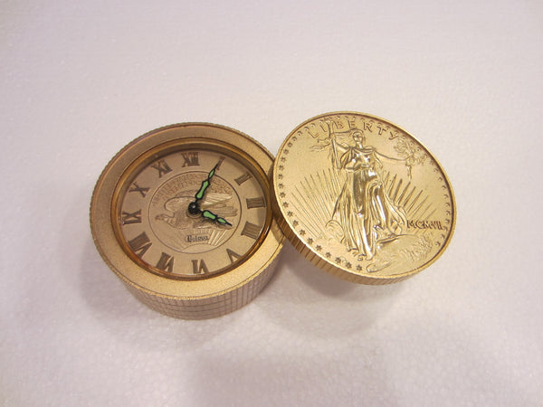 Bulova Liberty Clock United States of America Twenty Dollars Travel Companion - Designer Unique Finds   - 1