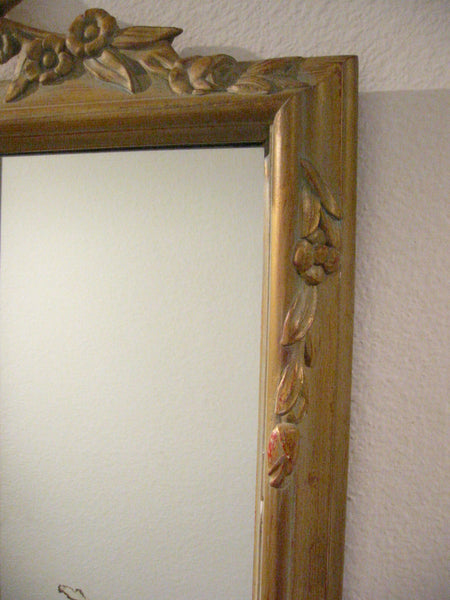Baroque Revival Mirror Gilt Decorated Vase Crested Flower Fruits - Designer Unique Finds   - 6