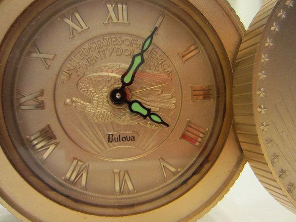 Bulova Liberty Clock United States of America Twenty Dollars Travel Companion - Designer Unique Finds