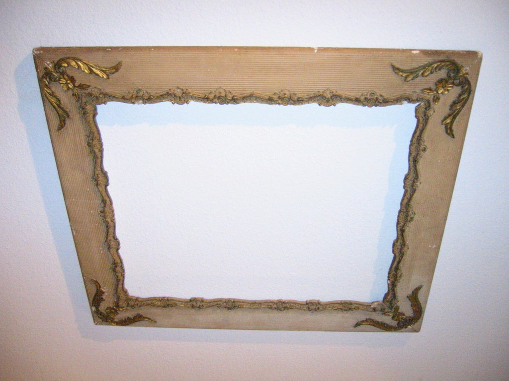 Picture Frame Ornamental Baroque Style Floral Gilt Textured Wood - Designer Unique Finds   - 4