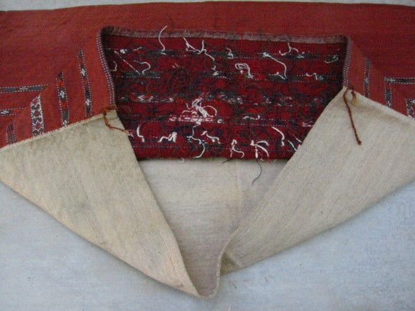Russian Jajim Suzani Hand Sewn Tribal Textile Pillow - Designer Unique Finds   - 3