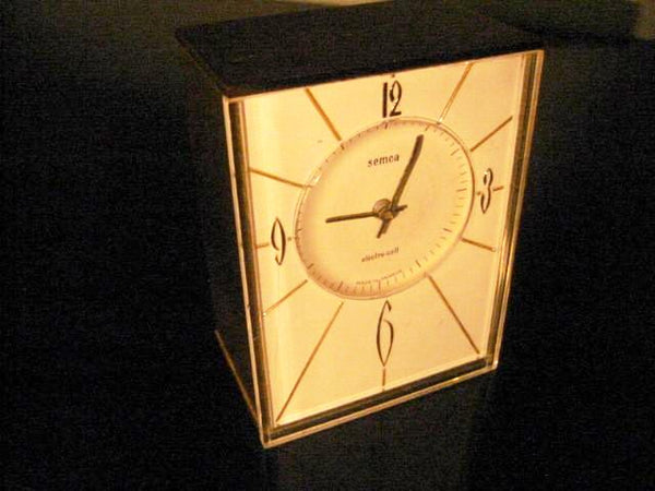 Semca Electro Cel France Brass Case Clock Quartz By Seikosha - Designer Unique Finds   - 1