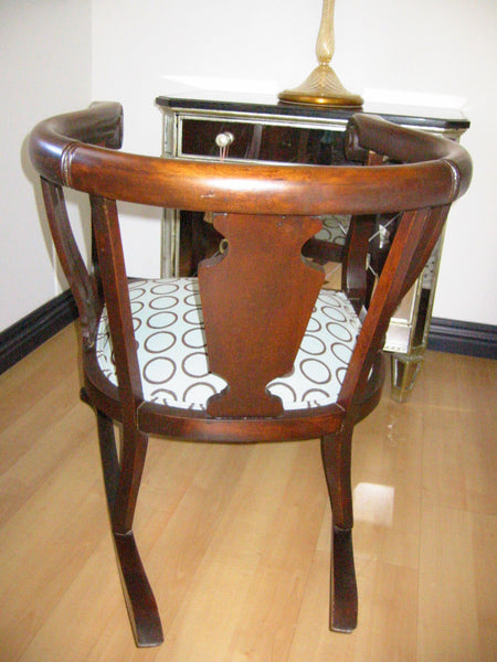 Mahogany Wood Rocking Chair William IV Style Circa 1905 Updated Seating - Designer Unique Finds   - 6