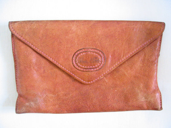 Red Leather Designer Envelope Clutch Hand Made In Italy - Designer Unique Finds   - 3