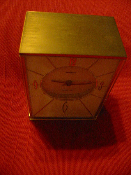 Semca Electro Cel France Brass Case Clock Quartz By Seikosha - Designer Unique Finds   - 4