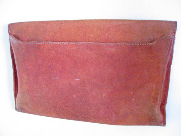 Red Leather Designer Envelope Clutch Hand Made In Italy - Designer Unique Finds   - 2