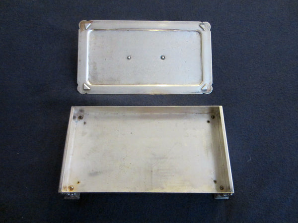 Fashioned By Ronson Silver Plated Rectangular Footed Box With Hallmarks - Designer Unique Finds   - 9