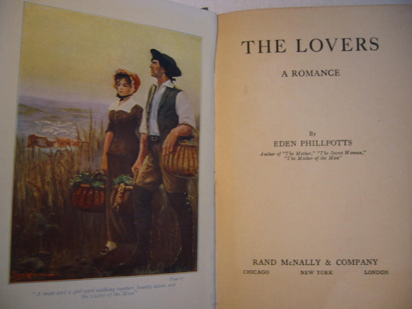 Eden Phillpotts The Lovers A Romance Illustrated Book - Designer Unique Finds   - 1