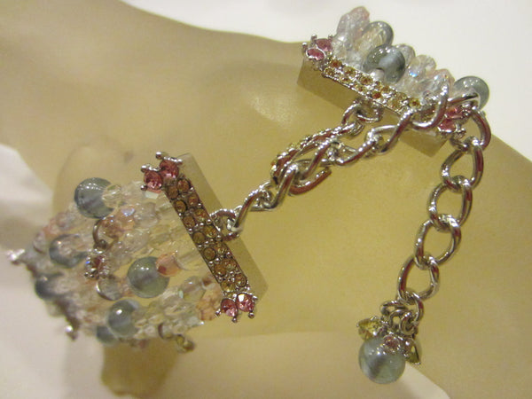Modernist Statement Choker Colored Beaded Glass Gems