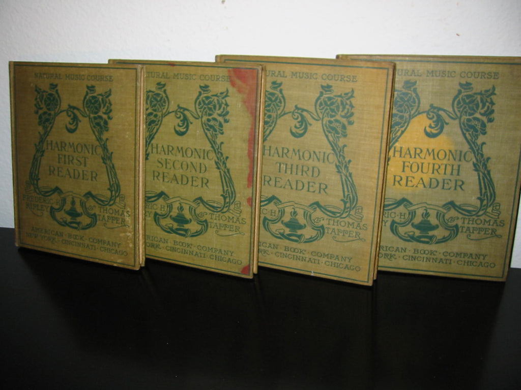Fredrick H Ripley Harmonic Reader Music Note Books Four Volumes - Designer Unique Finds