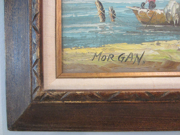 Morgan Seascape Coast of Italy Impressionist Oil On Canvas Signed