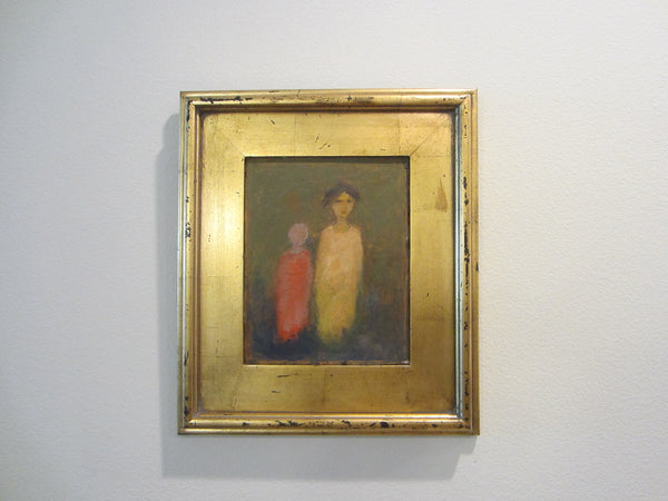 Roky Roka Surrealist Mother Child Portrait Contemporary Oil On Board