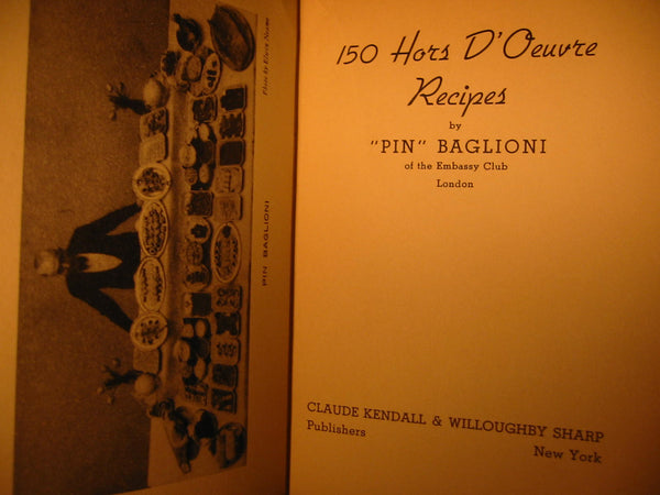 Pin Baglioni Embassy Club London Recipe Book 150 Hors D Oeuvres - Designer Unique Finds