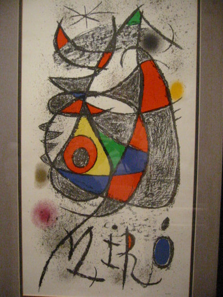 Joan Miro Jardin Au Claire De Lune Arte Paris Abstract Print - Designer Unique Finds