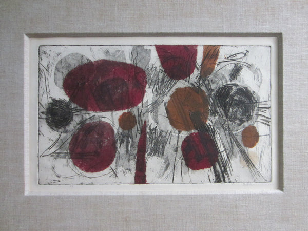 Abstract Contemporary Lithograph Signed Titled By Artist in Pencil