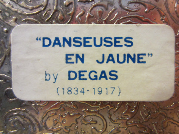 Brass Jewelry Box Danseuses En Jaune By Degas Inspiration