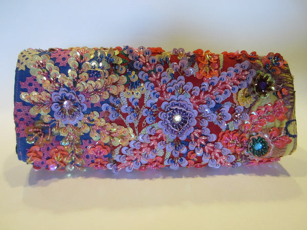 Beaded Clutch Laura Lees Designs Sequined Purse