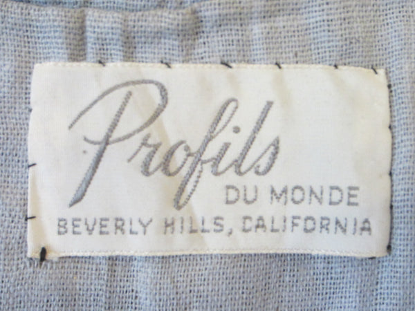 Profils Du Monde Beverly Hills Long Black Vest Geometric Embroideries - Designer Unique Finds