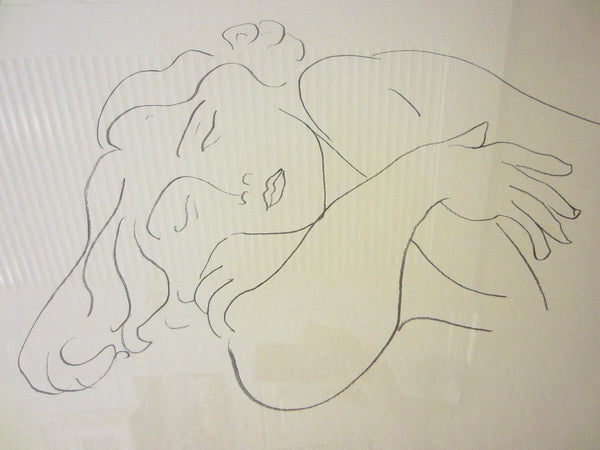 Attributed Matisse Abstract Portrait Print Line Drawing - Designer Unique Finds   - 2