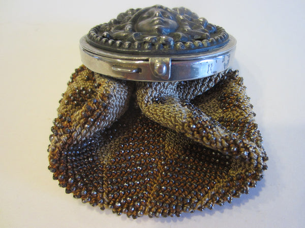 Victorian Bacchus Crochet Beaded Pouch Coin Purse - Designer Unique Finds