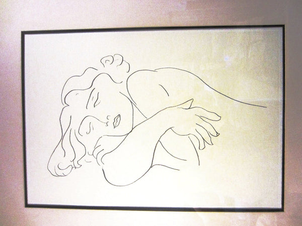 Attributed Matisse Abstract Portrait Print Line Drawing - Designer Unique Finds   - 4