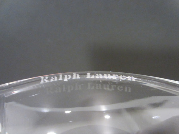 Ralph Lauren Modern Glass Candle Holders With Signature