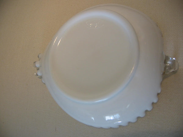 Fenton Milk Glass Heart Shape Condiment Bowl - Designer Unique Finds