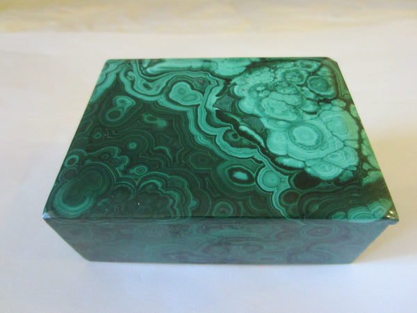 Malachite Green Stone Hand Cut Jewelry Box - Designer Unique Finds   - 5