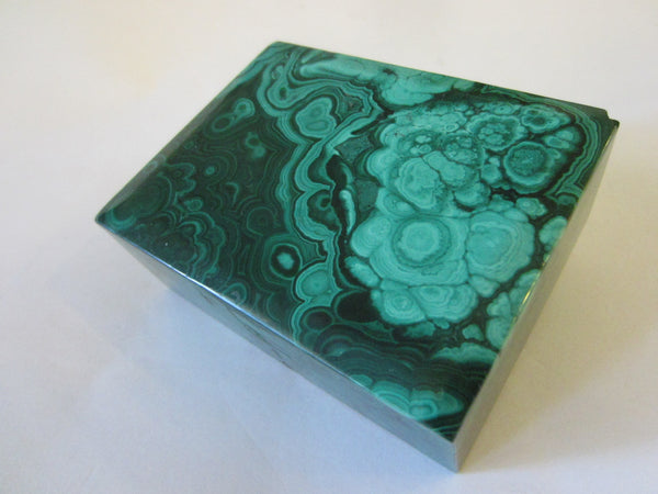 Malachite Green Stone Hand Cut Jewelry Box - Designer Unique Finds   - 7