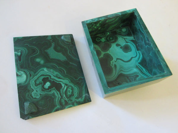 Malachite Green Stone Hand Cut Jewelry Box - Designer Unique Finds   - 2