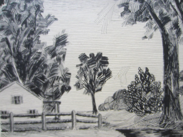 Vida Primm Black And White Landscape With Patmore Drawing Board Stamp - Designer Unique Finds