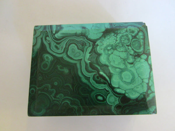 Malachite Green Stone Hand Cut Jewelry Box - Designer Unique Finds   - 6