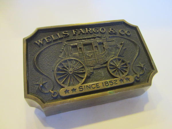 Wells Fargo Bronze Signed Paperweight Bank Memorabilia - Designer Unique Finds